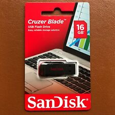 Nuevo SanDisk 16GB Cruzer Blade USB FLASH PEN DRIVE MEMORY STICK THUMB Drive UK