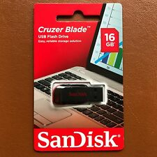 NEW SanDisk 16GB Cruzer Blade USB Flash Pen Drive Memory Stick Thumb Drive UK