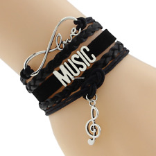 Hot Sunshine vintage music infinity bracelets bangles Fashion For Women #1014