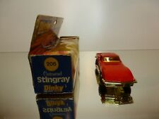 DINKY TOYS 206 CHEVROLET CORVETTE CUSTOMIZED STINRAY - RED - GOOD IN BOX
