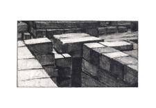 Small Original Hard-ground Etching: Ancient Ruins near Memphis, Egypt