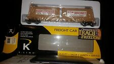 K-Line #K691-8031 Operation Iraqi Freedom Flat Car w/2 Secret Crates, 0/027-Nib