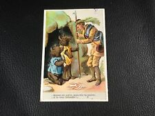 CHROMO CARD OURS TEDDY BEAR  EPOQUE 1880 90