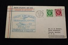 1ST FLIGHT COVER 1939 MACHINE CANCEL FROM LONDON TO BOTWOOD 1ST AIR MAIL (2526)