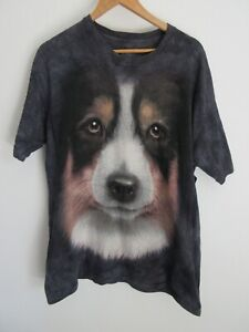 The Mountain Dog Mens T Shirt Size L Crew Neck Large Graphic Adult Tie Dye