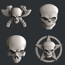 3d STL models for CNC, Artcam, Aspire, relief skulls