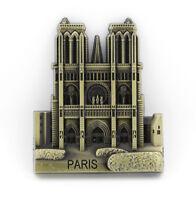 """3D Metal Fridge Magnet """"Notre Dame De Paris, France"""" Souvenir Fine Gift New"""