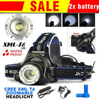 Super-bright 90000LM LED Headlamp Rechargeable CREE XM-L T6 Headlight Head Torch