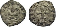 1316-1318 Crusaders Achaea(Greece) Mahaut of Hainaut Silver Denier Castle/Cross