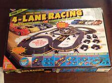 Vintage Tyco 4-Lane Racing Magnum 440-X2 Set# 6693 w/4 Slot Cars