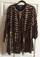 NWT $169.00 Travelers Collection Cheetah Strip Jacket. MULTI. Size: 4(20/22 XXL.