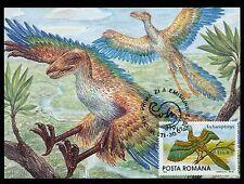 1993 Archaeopteryx , Dinosaurs,Dino,Prehistori c animals,Romania,Fdc maxi card