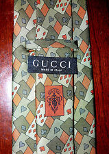 Recent GUCCI Playing Cards Silk Tie, Mint EUC, Fabulous!