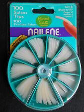 NAILENE 100 NATURAL CURVE SALON NAIL TIPS LOT OF 5 SETS