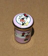 1996 Disney Enamel Trinket Pill Box Minnie Mouse Taped photo of Mickey inside