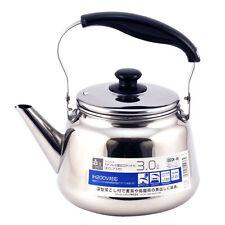 Japanese Stainless Steel Tea Pot Teapot Kettle w/ Chakoshi Strainer Ocha 3 Liter