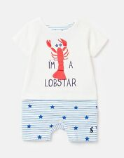 Joules Baby Boys Pebble Mock Layer Babygrow  - White Lobster - 3M-6M