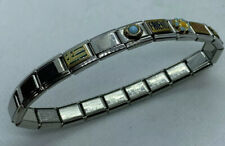 "Stainless Steel Blank Panel Nomination Bracelet - 8"" round. Disney Brand"