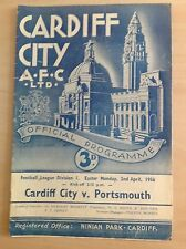 Cardiff v Portsmouth 1955-56 Programme