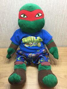 """Build A Bear Teenage Mutant Ninja Turle Plush Raphael Soft Toy 18"""" Large Costume"""