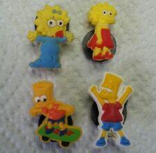 Simpsons Maggie Bart Lisa 4pc Set SHOE CHARMS LOT 4 CROC SHOES JIBBITZ BRACELET