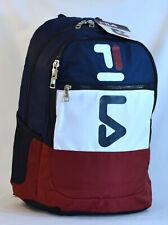 New Fila Wyatt Retro Laptop Backpack -- Navy/Red