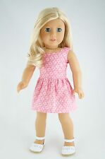 Daytime Dress PinkPrint American Made Doll Clothes For 18 Inch Girl Dolls