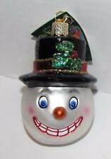 Vintage Snowman Handmade Blown Glass Ornament by Old World Christmas NWT