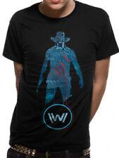 Mens Westworld Blue Man T-Shirt Top Delos Inc Android Official L