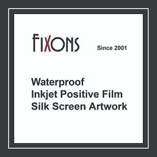 "Waterproof Inkjet Screen Printing Positive Film 8.5""x14"" 100 Sheet"