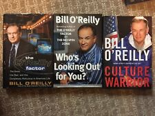 3 books by Bill O'Reilly Culture Warrior The O'Reilly Factor Who's Looking Out