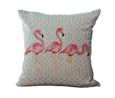 "NEW Flamingo Bird Printed Decorative Throw Pillow Case 17.5"" x16.5"""