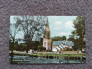 Vintage Fine Art Postcard, St Andrew's Church, Thorpe, Norfolk. Christian Novels