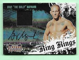 GRAY The Bully MAYNARD  2008 Donruss RING KINGS AUTOGRAPH RELIC  #'d 205/500 UFC