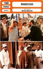 FICHE CINEMA : MANGECLOUS - Richard,Aznavour,Bideau,Carmet,Blier,Villeret 1988