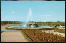 Pittsburgh Pa Airport War Fountain Vintage Postcard