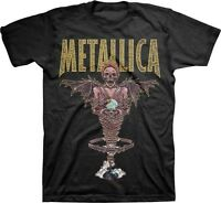 AUTHENTIC METALLICA KING NOTHING WINGED MUMMY SKULL ROCK MUSIC T TEE SHIRT S-2XL