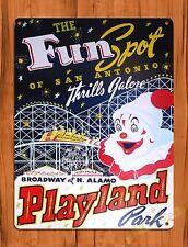 TIN SIGN Fun Spot Amusement Park Attraction Ride Art Poster
