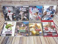 PS3 Sports Games Lot of 8 Playstation 3 - Baseball, Football, Fighting, Golf