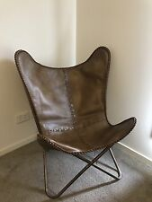 Brand New Amalfi Butterfly Chair Seat Genuine Leather Brown classic