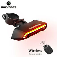 ROCKBROS MTB Bike Bicycle Tail Light  Smart Wireless Remote Control Turn Signal