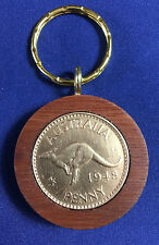 1948 Birthday Gift Present Jarrah Australian Penny Keyring other years available