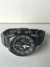 Montres De Luxe Milano Men's Type 12 Black All-Aluminum Chrono watch NEW