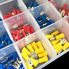 330tlg. Kabelschuhe Quetschverbinder Steckverbinder Sortiment Box Flachstecker