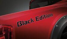 BLACK EDITION SERIES STICKER DECAL PLATE PAIR GENUINE NAVARA NP300 D23 2018