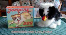 VINTAGE 1960'S WIND UP JUMPING DOG JAPAN ~ ORIGINAL BOX EXCELLENT~ NOS 🐶