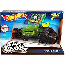 Mattel Hot Wheels dpb67 Speed Winders Twisted CYCLE VEHICLE-Yellow Neuf neuf dans sa boîte/