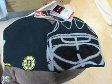 "BOSTON BRUINS ""REEBOK"" WINTER REVERSIBLE HAT W/SEWN LOGO NWT $25 GOALIE MASK"