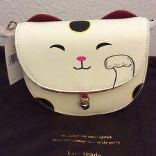 New Kate Spade Tonti Street Cat Leather Crossbody Bag Purse $298