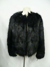 7 Seven for All Mankind Faux Fur Black Jacket Size Small